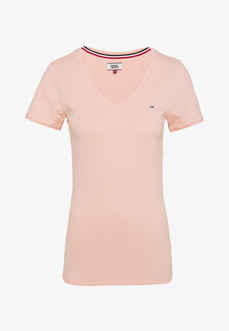 Tommy Jeans - SHORTSLEEVE STRETCH TEE - Basic T-shirt - sweet peach