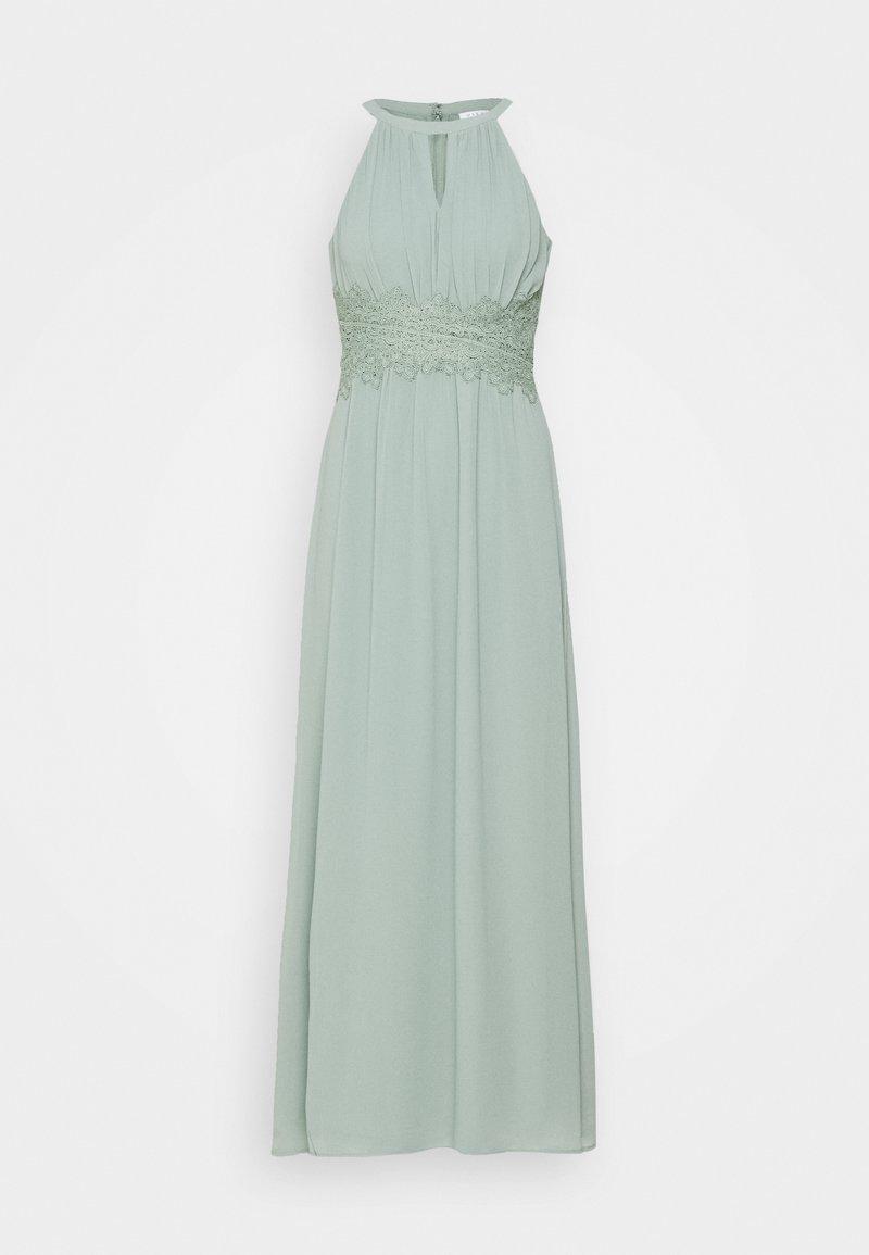 VILA PETITE - VIMILINA HALTERNECK DRESS - Společenské šaty - light green