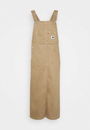 Denim dress - khaki