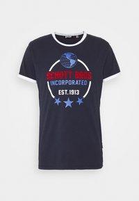 Schott - Print T-shirt - navy - 4