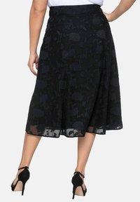Sheego - A-line skirt - black - 2