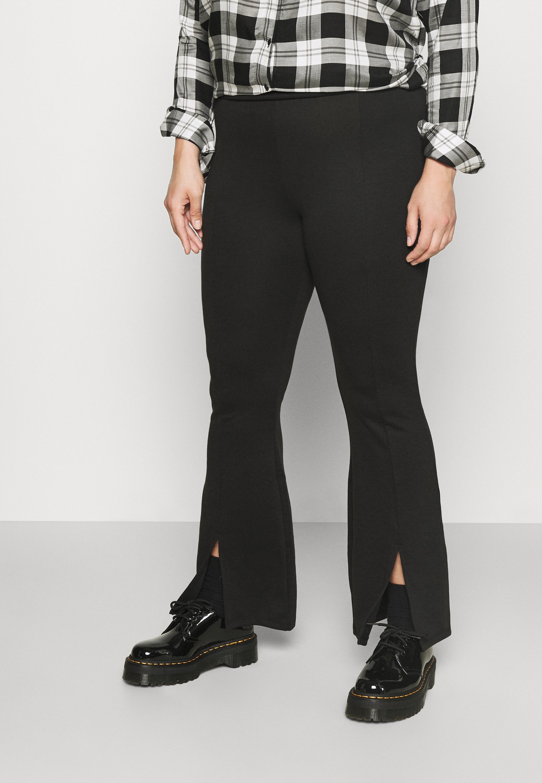 Damen CARPEVER FLARED SLIT PANTS - Stoffhose
