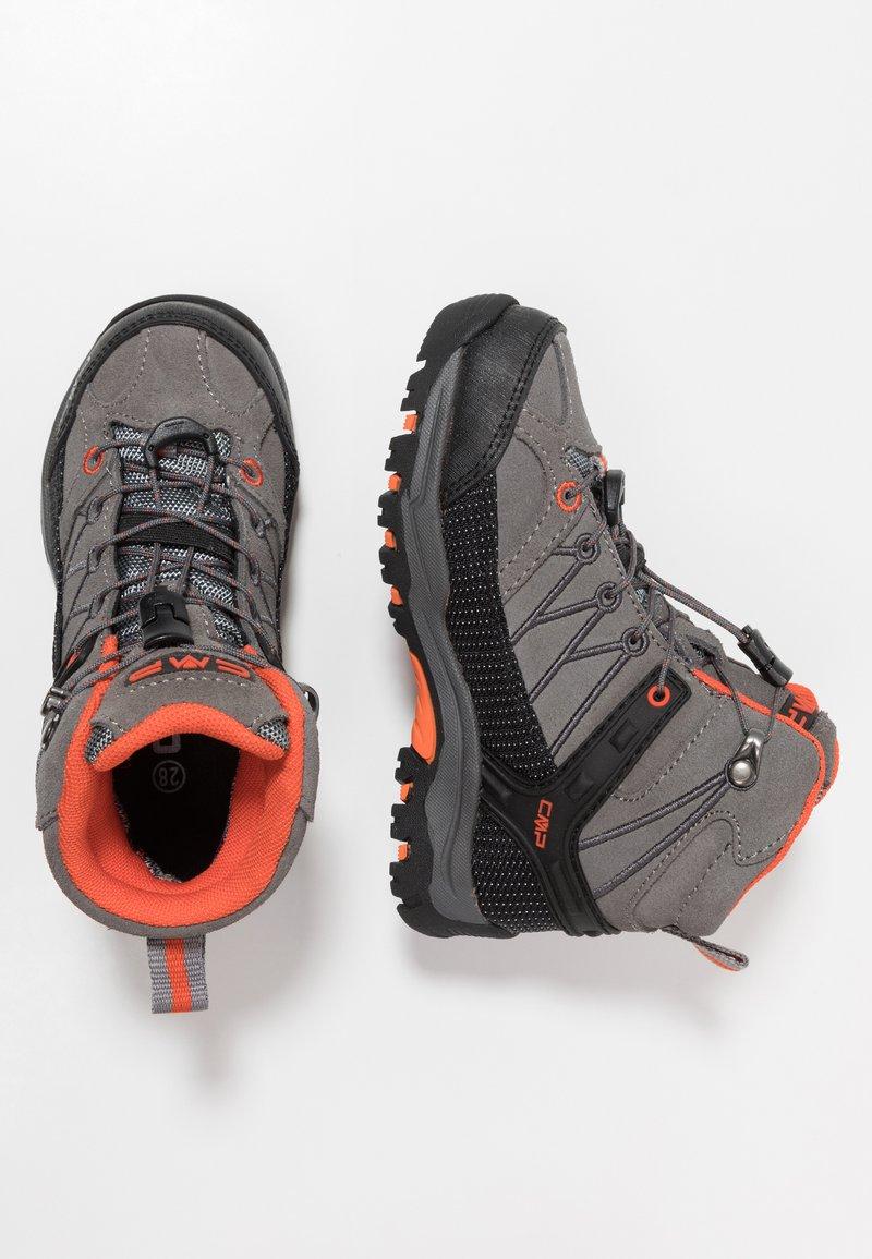 CMP - RIGEL MID SHOE WP UNISEX - Hiking shoes - stone/orange