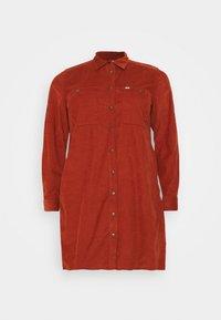 Lee Plus - WORKSHIRT DRESS - Shirt dress - red ochre - 5