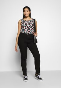 JUNAROSE - by VERO MODA - JRONENOVINA - Jeans Skinny Fit - black denim - 1
