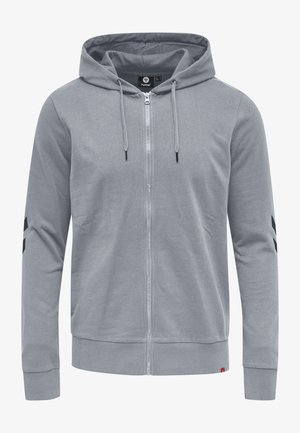 HMLLEGACY ZIP HOODIE - Zip-up hoodie - grey melange