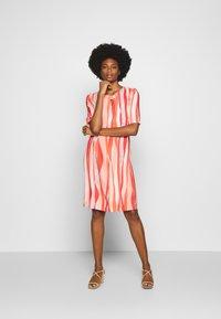 Barbara Lebek - Day dress - coral/ orange/ taupe - 1