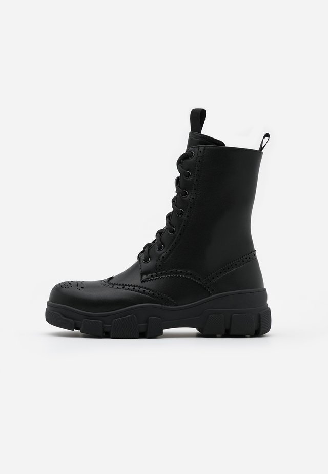 VEGAN SIGHTINGS - Bottines à lacets - black
