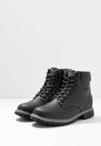 Fila - MAVERICK - Lace-up ankle boots - black - 4