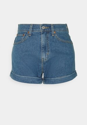 MOM A LINE  - Shorts di jeans - light blue denim