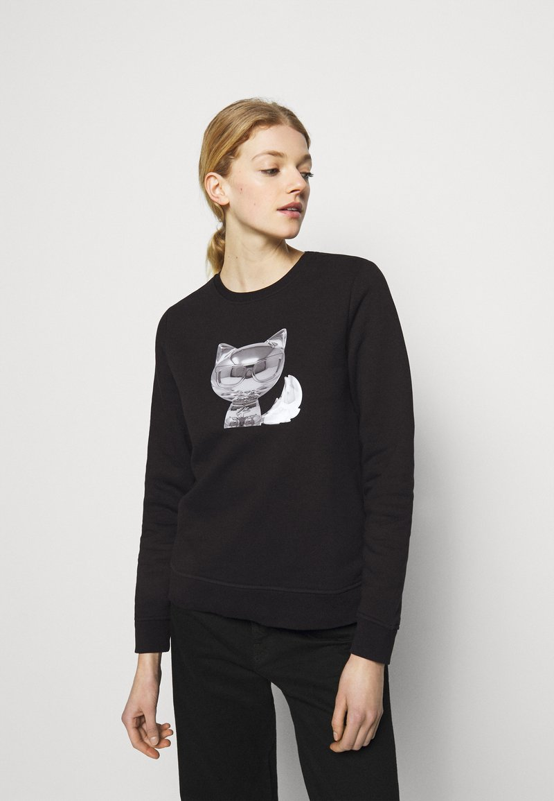 KARL LAGERFELD - 3D IKONIK CHOUPETTE  - Sweatshirt - black