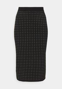 Pinko - EXTRADRY GONNA MANO CALDA - Pencil skirt - black - 4