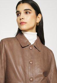 Sisley - Leather jacket - brown - 3