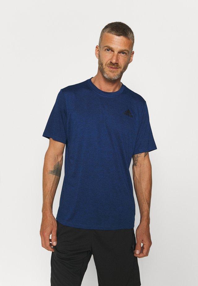Jednoduché triko - team royal blue melange/black