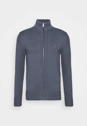 CHUNKY ZIP THROUGH - Cardigan - blue