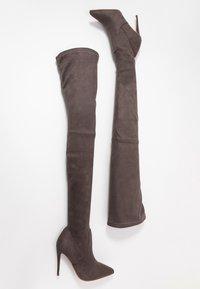 Steve Madden - DOMINIQUE - High Heel Stiefel - dark grey - 3