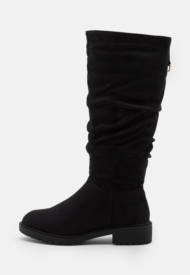 WIDE FIT CLOUD SLOUCH KNEE HIGH  - Stivali alti - black
