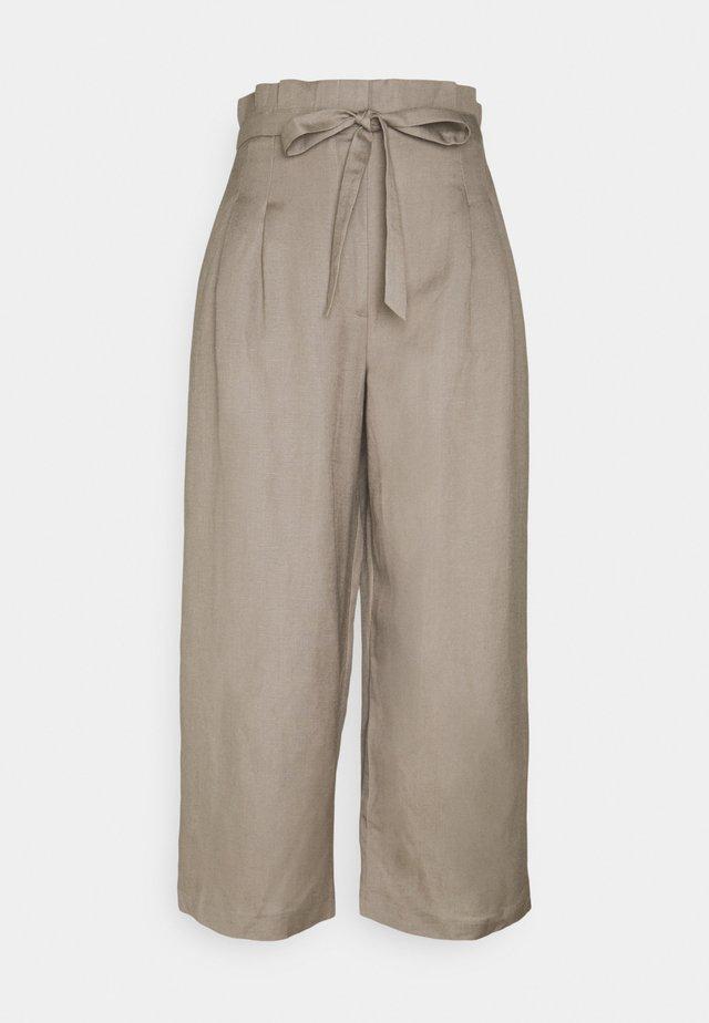VALERIE PAPERBAG WAIST - Trousers - khaki
