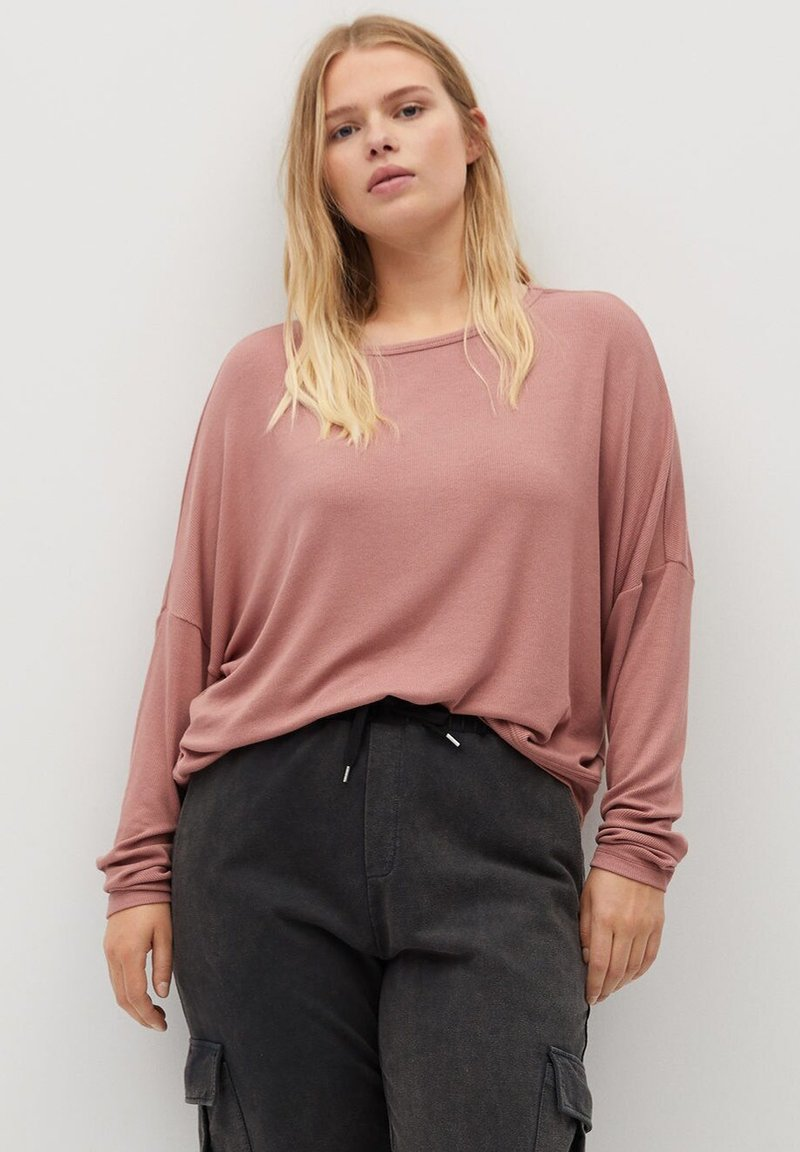 Violeta by Mango - ATLANTA - Long sleeved top - rosa