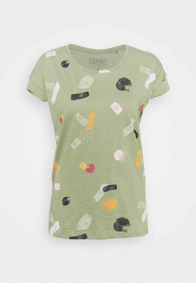 T-shirt con stampa - light green
