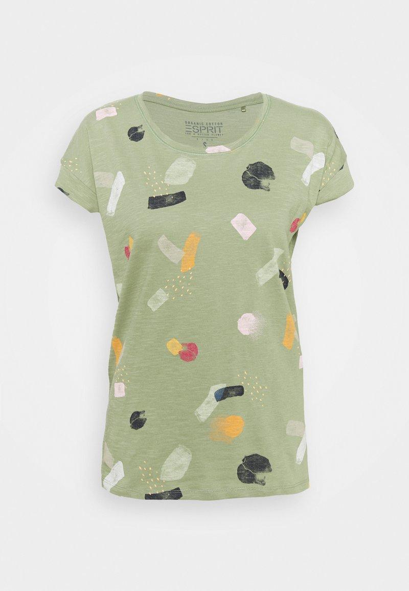 Esprit - Print T-shirt - light green
