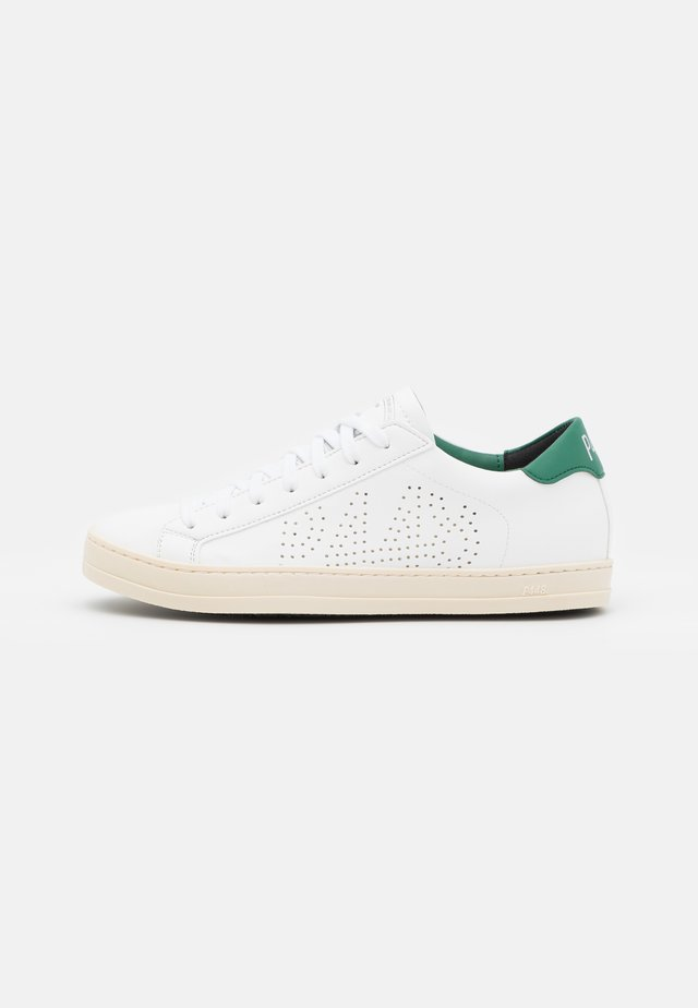 JOHN VEGAN UNISEX - Matalavartiset tennarit - white/green