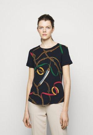 Print T-shirt - navy/multi-coloured