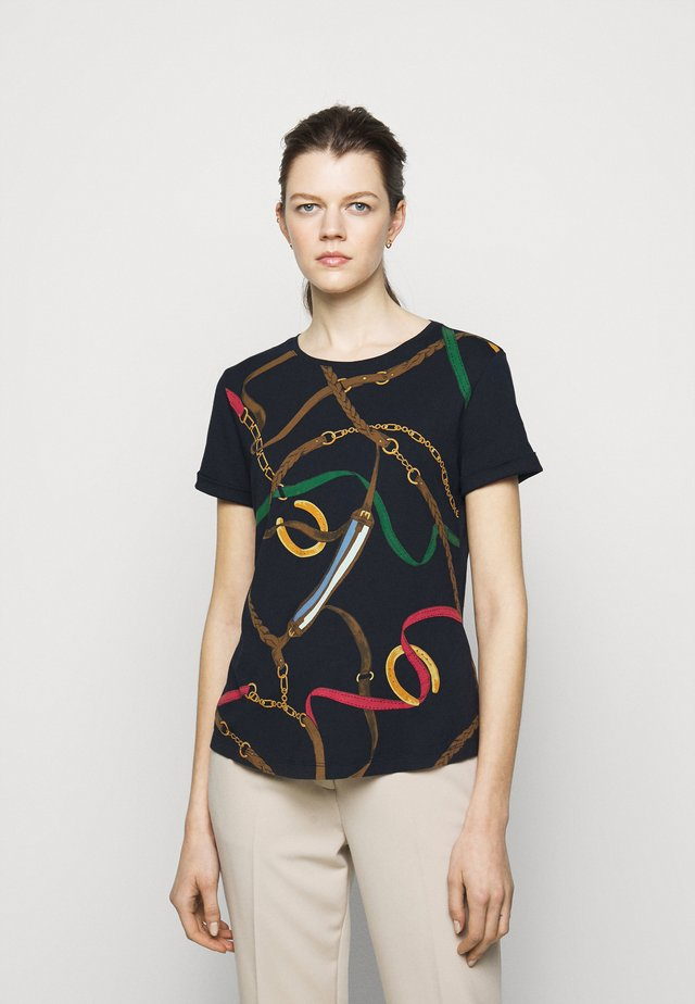 T-shirt imprimé - navy/multi-coloured