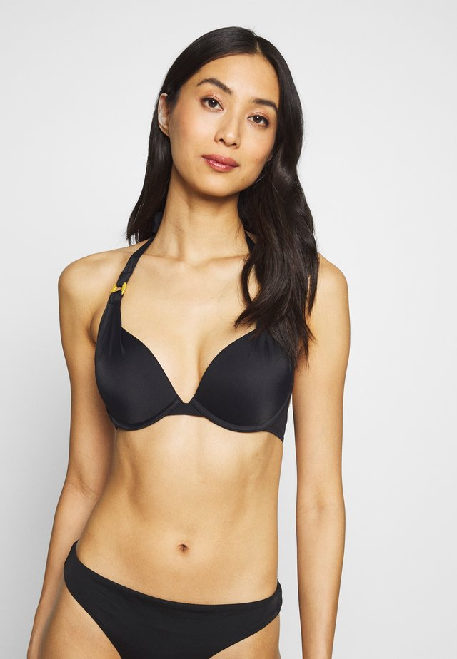 JAMAICA SUPER PUSH UP - Góra od bikini - black