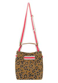 Codello - MIT LEO-PRINT - Handbag - braun - 2