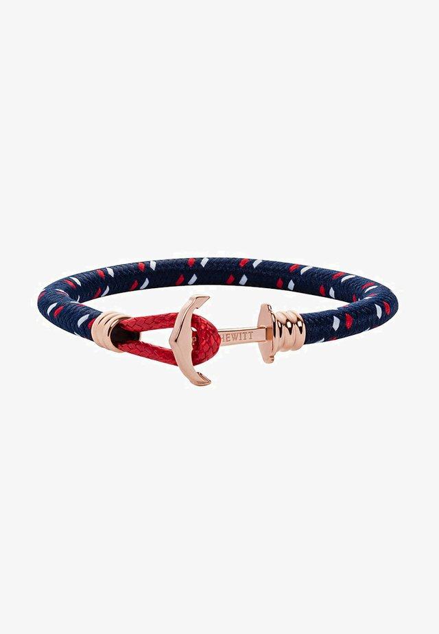 Bracelet - blau/rot/roségold