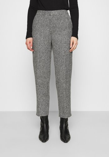 TROUSERS LOWE  - Trousers - black/white