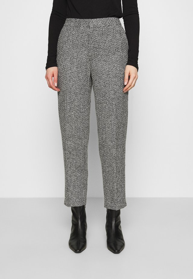 TROUSERS LOWE  - Pantaloni - black/white