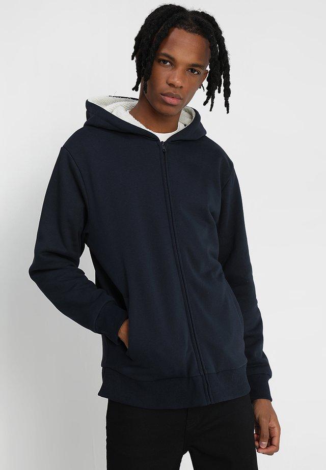 SHERPA LINED ZIP HOODY - Zip-up hoodie - navy/ecru