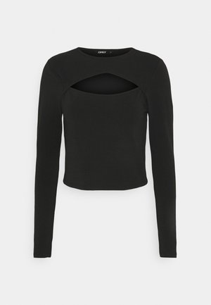 ONLLIVE LOVE DETAIL - Long sleeved top - black
