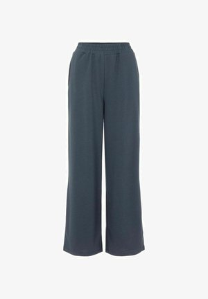 HIGH WAIST SWEATPANTS WEITES BEIN - Trousers - ombre blue