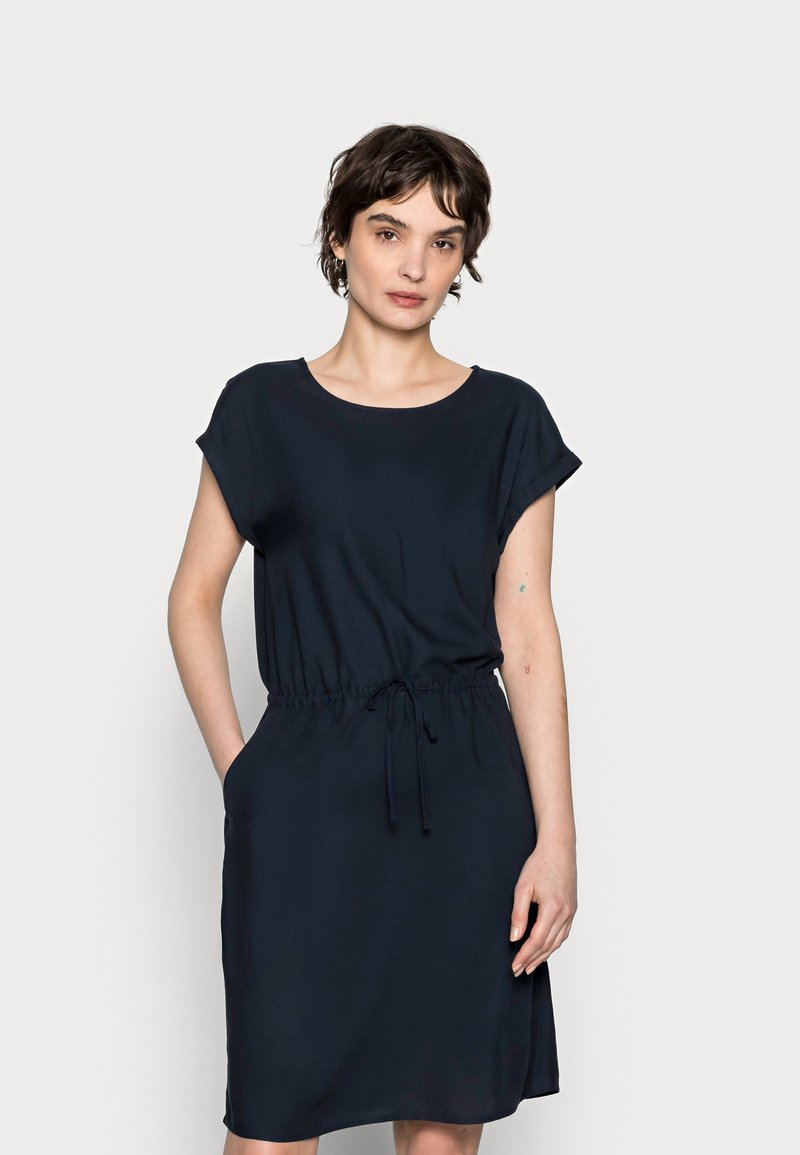 TOM TAILOR - DRESS CASUAL WITH POCKETS - Day dress - sky captain blue