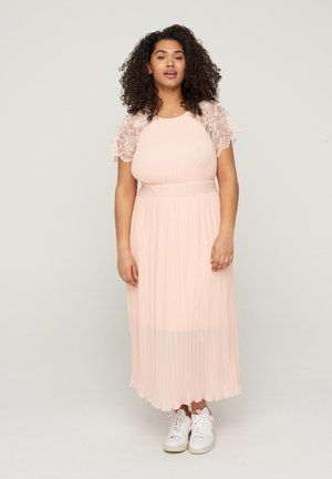 WITH LACE AND SMOCK DETAIL - Cocktail dress / Party dress - rose smoke