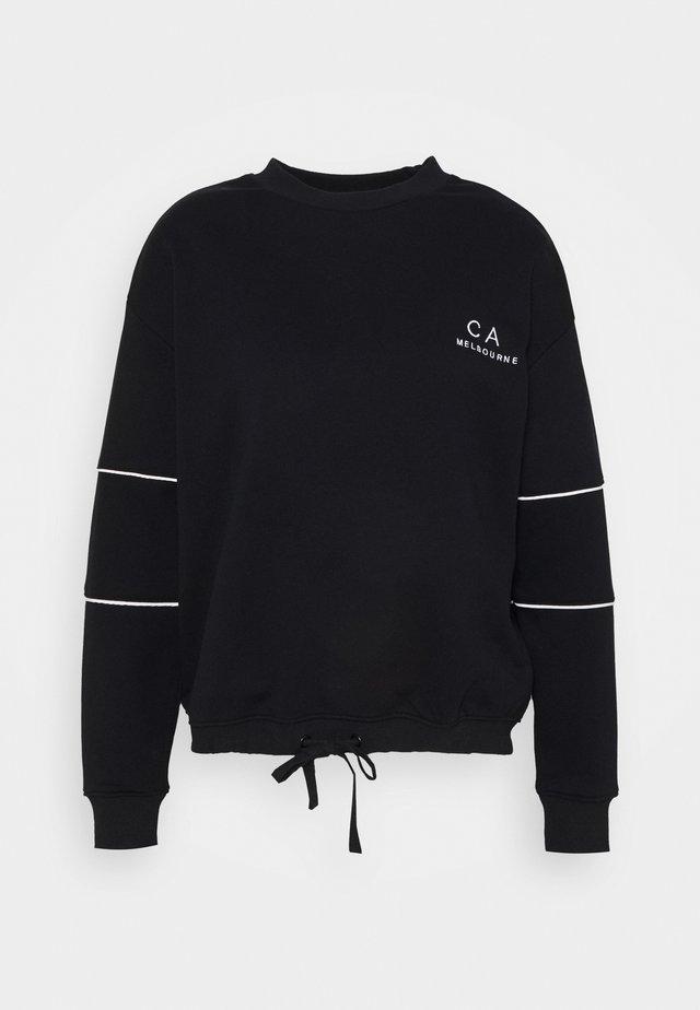 DRAWSTRING JUMPER - Sweater - black