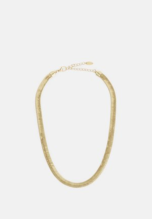 CHUNKY FLAT SNAKE CHAIN NECKLACE - Necklace - pale gold-coloured
