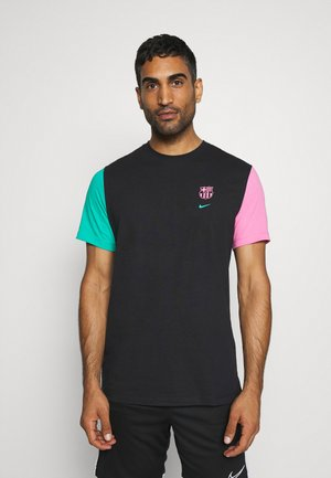 FC BARCELONA TEE TRAVEL - Club wear - black/new green/lotus pink