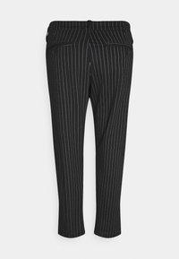 Denim Project - PLUS PONTE ROMA PLAN - Trousers - black/white - 2
