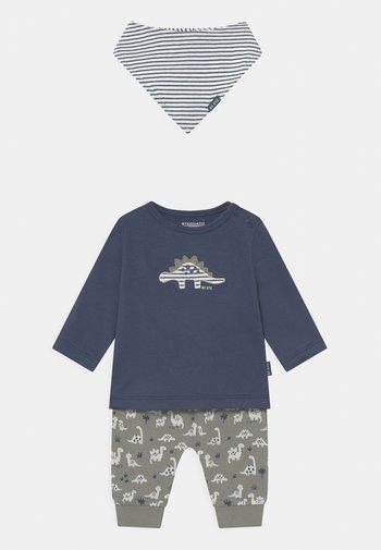 SET - Broek - dark blue/khaki