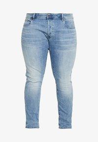 G-Star - 3301 SLIM - Slim fit jeans - light indigo aged - 4