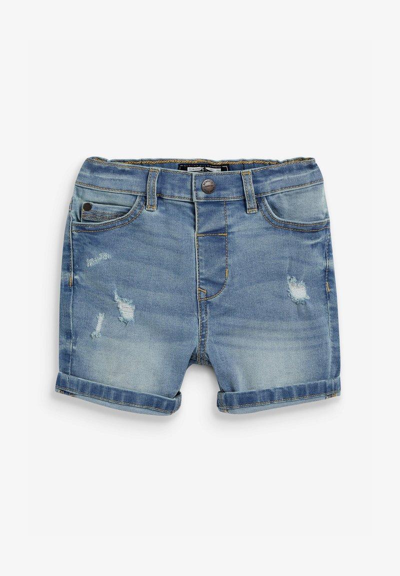 Next - DISTRESSED - Denim shorts - blue