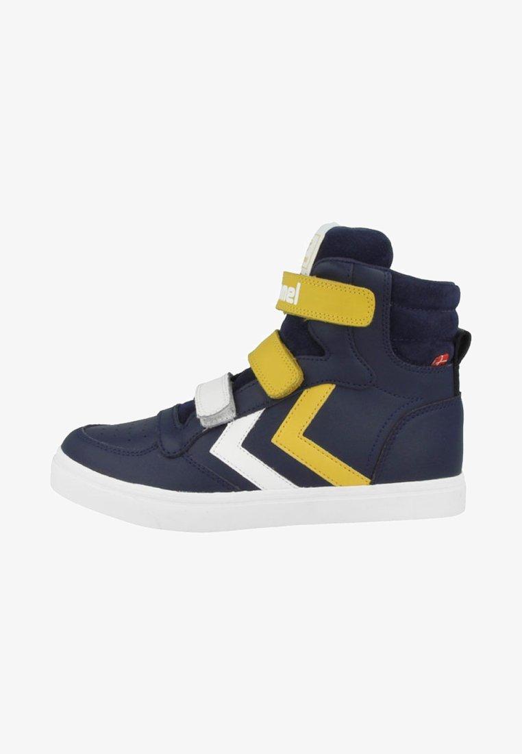 Hummel - STADIL PRO JR - Zapatillas skate - black iris-sulphur