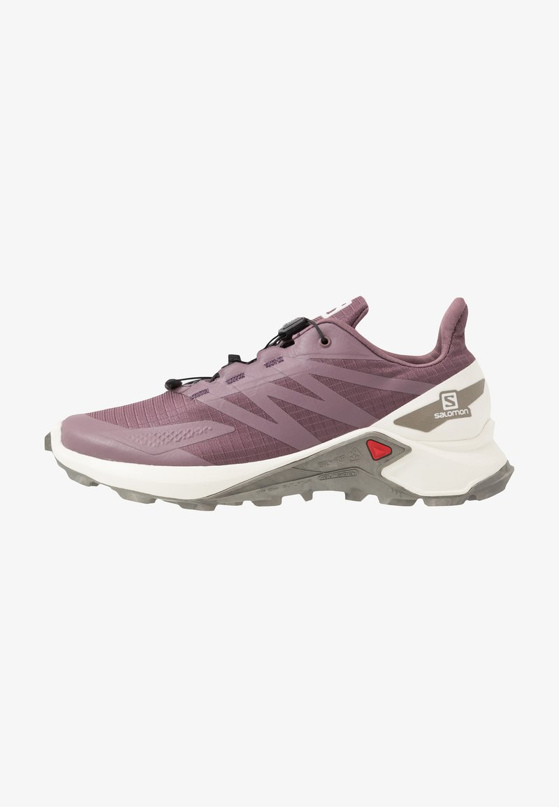 Salomon - SUPERCROSS  BLAST - Trail running shoes - flint/vanilla/vintage kaki