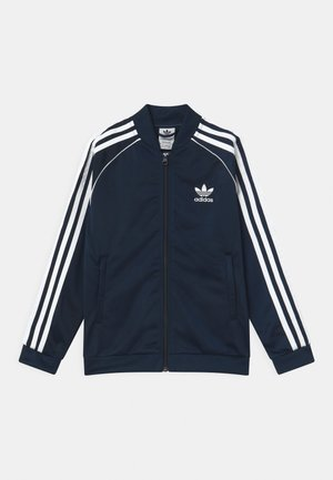 TRACK UNISEX - Veste de survêtement - collegiate navy/white