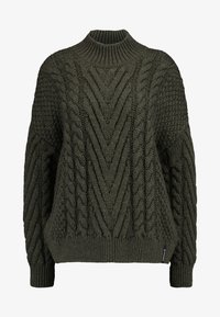 Superdry - DALLAS CHUNKY CABLE - Jumper - army khaki - 3