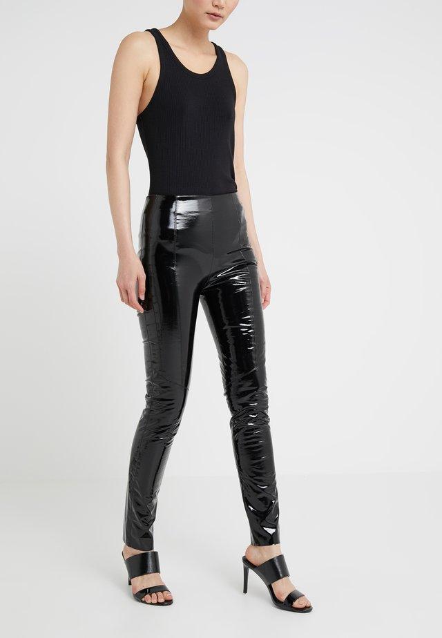 TANDEMPANTALONE LATTICE - Trousers - black